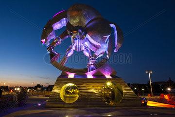 Skulptur Rolling Horse