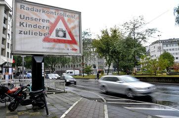 Radarkontrollen zum Schulbeginn in Koeln