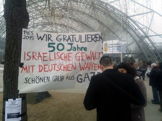 Anti-Israel-Protest vor der Leipziger Buchmesse