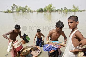 Shadhat Kot  Pakistan  Hochwasser-Katastrophe