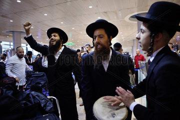 ISRAEL-BEN GURION AIRPORT-ORTHODOX JEW-PILGRIMS