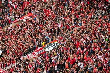 FC Koeln Fans in der Suedtribuene  RheinEnergie-Stadion in Koeln