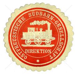 Ostpreussische Suedbahn  Siegelmarke  1880