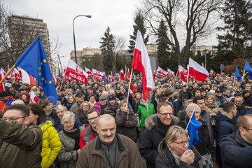 Pro EU-Demonstration  Polen  Warschau
