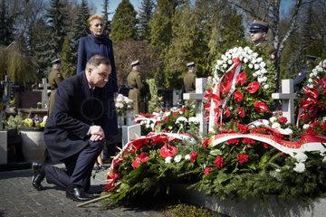 POLAND-WARSAW-SMOLENSK CRASH-ANNIVERSARY-COMMEMORATION