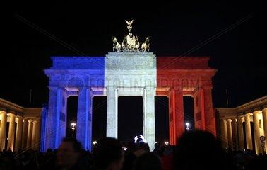 Brandenburger Tor in Farben der Trikolore