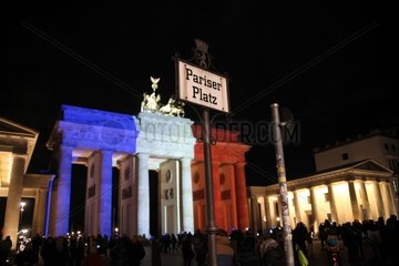 Brandenburger Tor in Farben der Trikolore