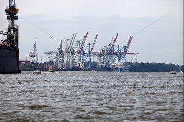 Hamburger Container-Hafen