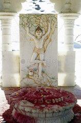 Marmorrelief des Hindu Gottes Shiva  Muktinath  Annapurna Gebiet  Nepal.Marmorrelief des Hindu Gottes Shiva  Annapurna Gebiet  Nepal