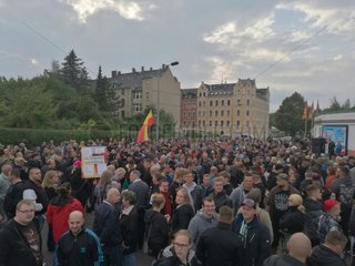 Proteste in Chemnitz am 30.08.2018