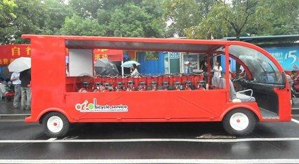 China  Autofreier Tag: Ein Fahrrad-Transporter