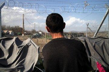Grenzzaun zwischen Mazedonien und Griechenland