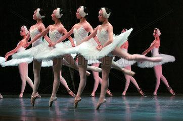 China  Fuzhou-Ballett mit der Auffuehrung Schwanensee