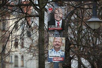 Wahlplakate zur Landtagswahl Sachsen-Anhalt 2016