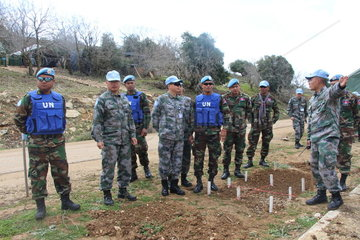 LEBANON-CHINA-CAMBODIA-TROOPS-COOPERATION-MINE-SWEEPING