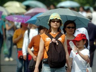 China  erste Hitzewelle des Jahres