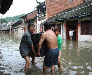 China  Ueberschwemmung in der Hunan Provinz