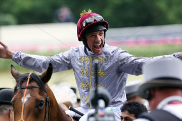 Royal Ascot  Baitha Alga with Frankie Dettori up after winning the Norfolk Stakes