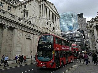 Bank of England im Finanzviertel von London
