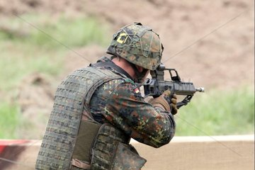 Bundeswehr-Soldat mit G36