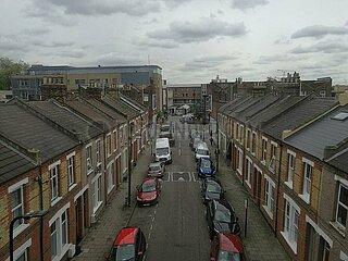 Wohnsiedlung in einem Vorort von London