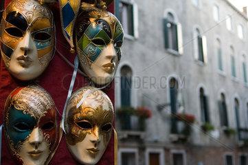 Venedig  Italien  Masken fuer den Karneval