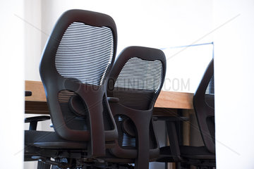 Office chairs in conference room