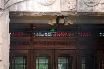Chinesische Boersenkurse auf einem Laufband