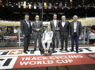 BM Maas besucht den Bahnrad-Weltcup in Berlin
