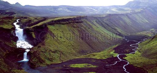 Eldgj___  gr____ter Eruptionsgraben der Erde  Island