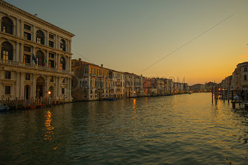 Tranquil view of the Grand Canal in Venice  Italy