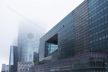 Foggy cityscape