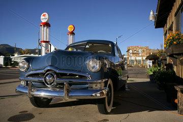 Historische Tankstelle an der Route 66
