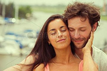 Couple on vacation enjoying scenery