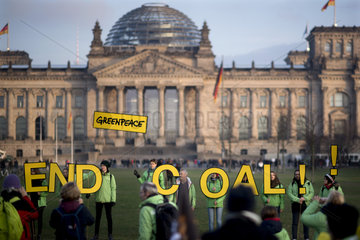 anti coal Protest  Demo Kohle stoppen