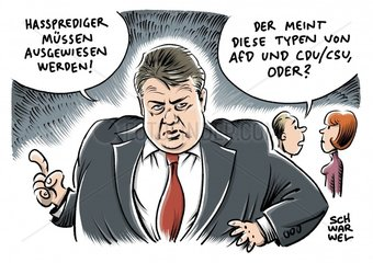 SPD-Chef Gabriel fordert kulturellen Kampf gegen Islamismus