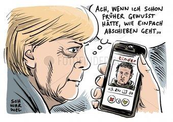 Merkel kuendigt nationale Kraftanstrengung bei Abschiebungen an
