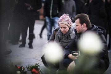 Mourners at Breitscheidplatz