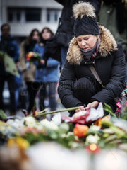 Mourners lay flowers at Berlin terror site