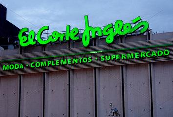 Filiale der spanischen Kaufhauskette El Corte Ingles in Madrid