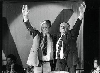 Willy Brandt  Oskar Lafontaine  1986