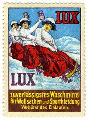 Werbung fuer Waschmittel Lux  Reklamemarke  1913