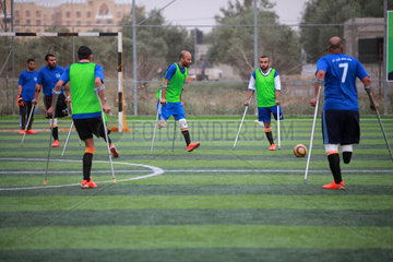 (SP)MIDEAST-GAZA-SOCCER-AMPUTEES