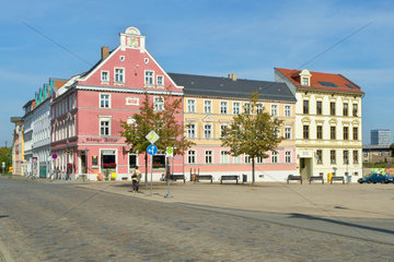 Restaurierte Stadthaeuser in Frankfurt (Oder)