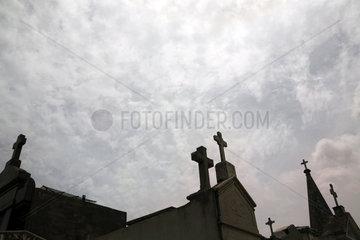Buenos Aires  Argentinien  Ruhestaetten auf dem Friedhof La Recoleta