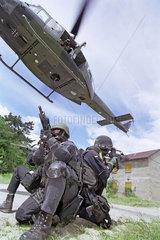 KSK  Kommandospezialkraefte beim Training  Calw  2001
