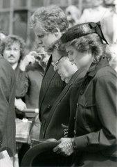 Trauerfeier fuer Marianne Strauss  1984