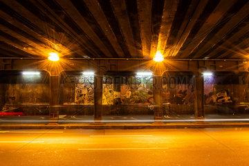 Nachtaufnahme Unterfuehrung. Night Shot underpass.