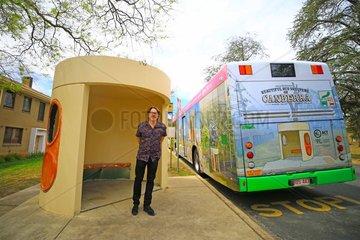 AUSTRALIA-CANBERRA-ARTIST-BUS SHELTER