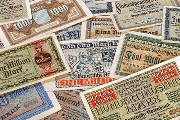 Inflationsgeld  Bayerische Notenbank  1923